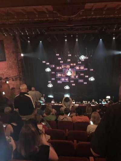 August Wilson Theatre, vak: Mezz, rij: H, stoel: 108