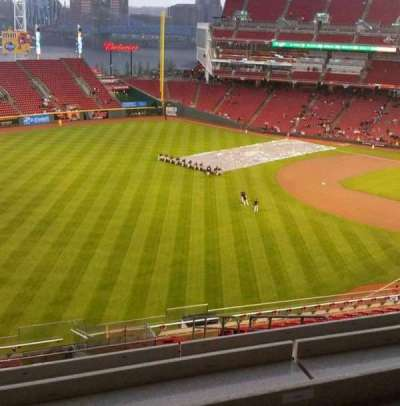 Great American Ball Park, vak: Fioptics District, rij: SRO