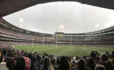 Melbourne Cricket Ground, vak: M2, rij: CC, stoel: 14