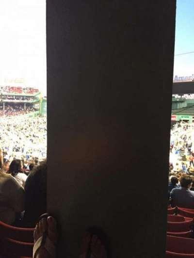 Fenway Park, vak: Grandstand 6, rij: 1, stoel: 7