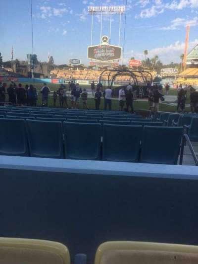 Dodger Stadium, vak: 5FD, rij: B, stoel: 8