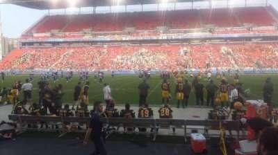 BMO Field, vak: 122, rij: 3, stoel: 24