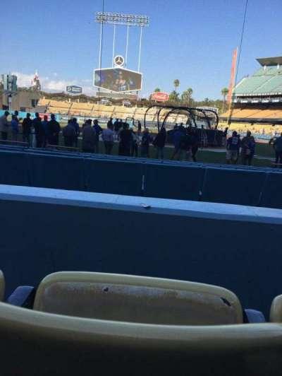 Dodger Stadium, vak: 7FD, rij: B, stoel: 4
