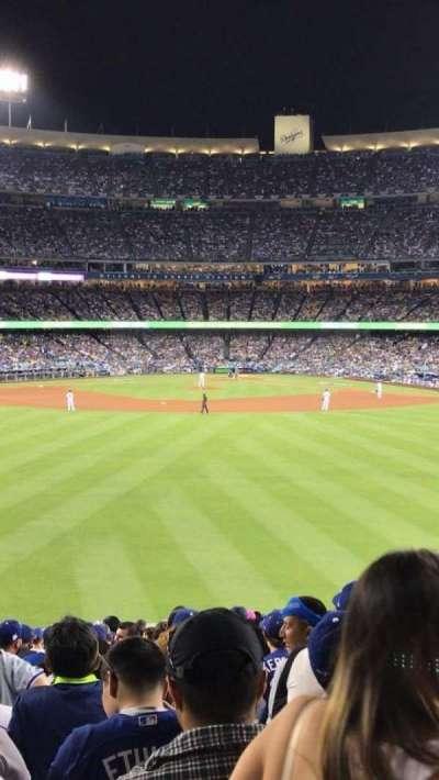 Dodger Stadium, vak: 302PL, rij: K, stoel: 5