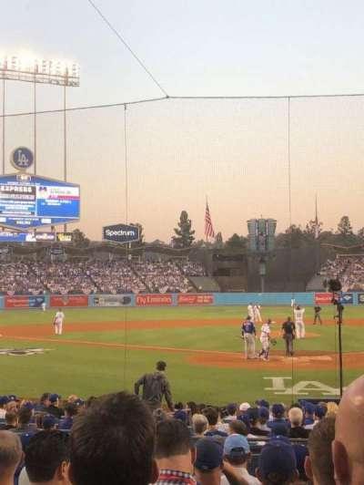 Dodger Stadium, vak: 5FD, rij: J, stoel: 2