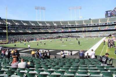 Oakland Alameda Coliseum, vak: 103, rij: 17, stoel: 3