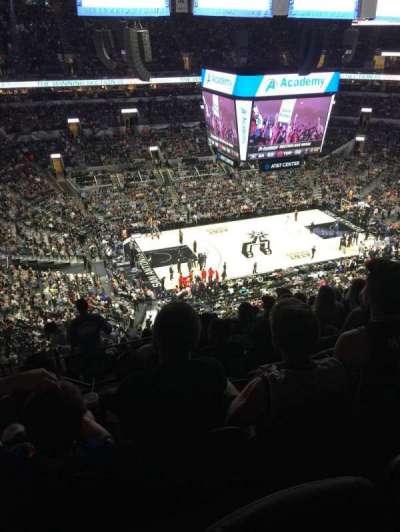 AT&T Center, vak: 210, rij: 12, stoel: 20