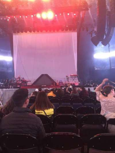 Oracle Arena, vak: C, rij: 17, stoel: 5