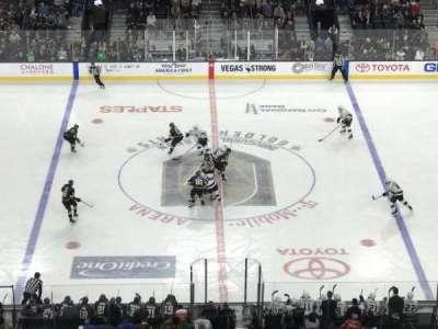 T-Mobile Arena, vak: 205, rij: H, stoel: 5