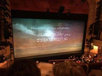 Ethel Barrymore Theatre vak Front Mezzanine L