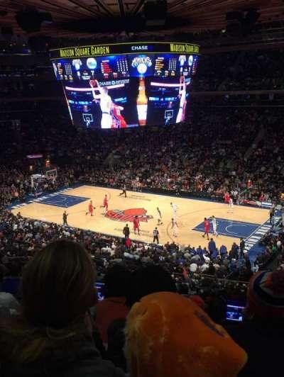 Madison Square Garden, vak: 213, rij: 6, stoel: 18
