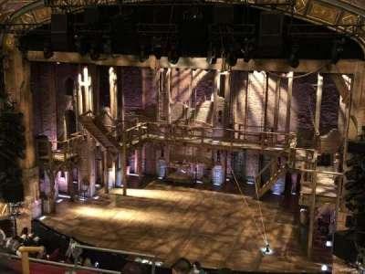 Richard Rodgers Theatre, vak: f mezz r, rij: f, stoel: 8