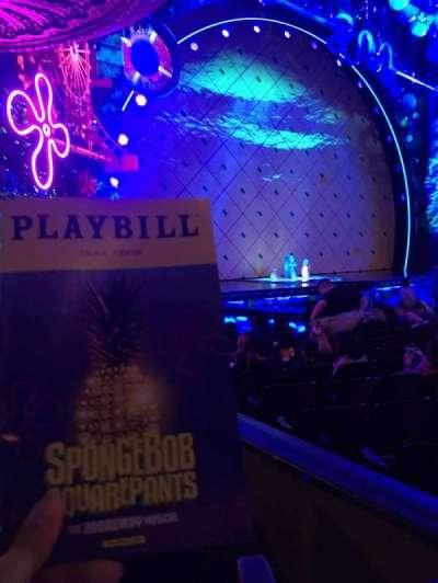 Palace Theatre (Broadway), vak: Orchestra, rij: M, stoel: 3