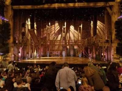 Richard Rodgers Theatre, vak: Orchestra, rij: M, stoel: 106
