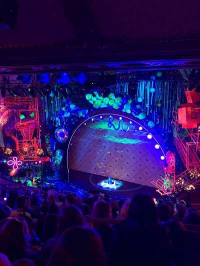 Palace Theatre (Broadway), vak: Rear Mezanine Right, rij: L, stoel: 8