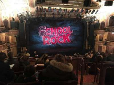 Winter Garden Theatre, vak: Mezz Center, rij: F, stoel: 101