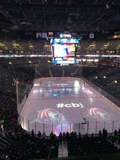 Nationwide Arena, vak: 225, rij: A, stoel: 1