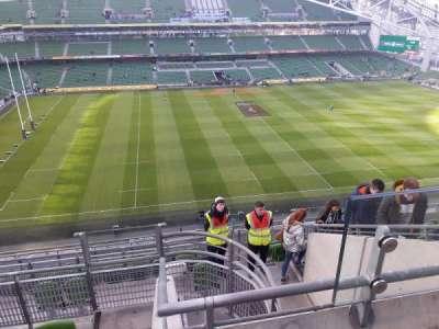 Aviva Stadium, vak: 506, rij: M, stoel: 16