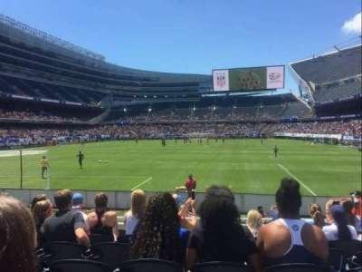Soldier Field, vak: 150, rij: 7, stoel: 11