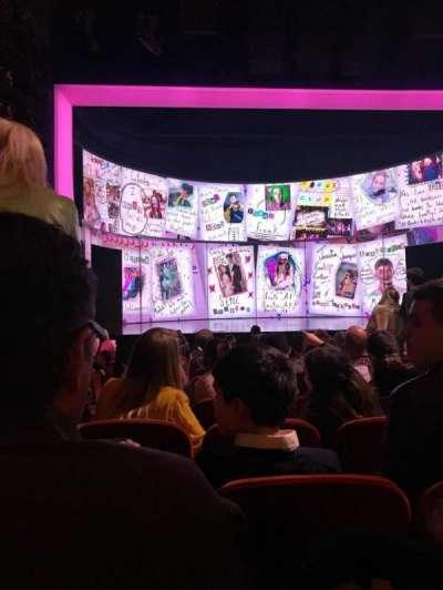 August Wilson Theatre, vak: ORCHC, rij: M, stoel: 113