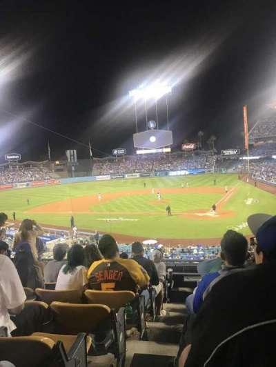 Dodger Stadium, vak: 113LG, rij: H, stoel: 6