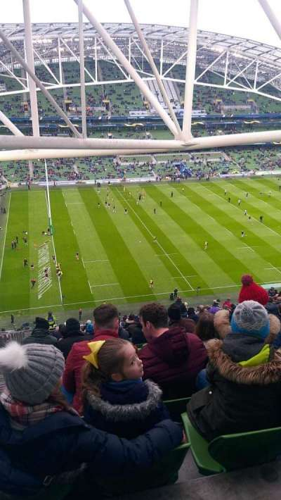 Aviva Stadium, vak: 508, rij: FF, stoel: 14