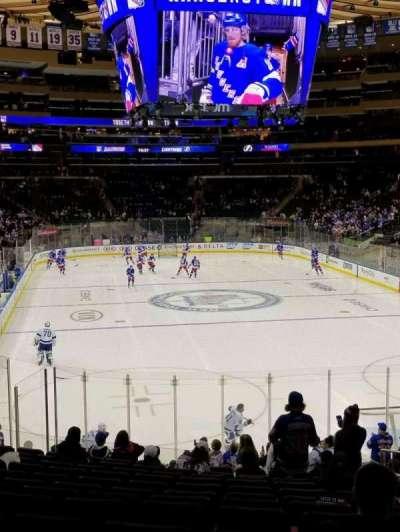 Madison Square Garden, vak: 119, rij: 19, stoel: 20