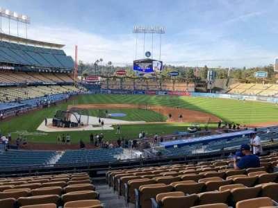 Dodger Stadium, vak: 120LG, rij: K, stoel: 4-7