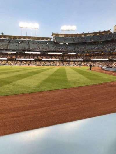 Dodger Stadium, vak: 53FD, rij: AA, stoel: 1