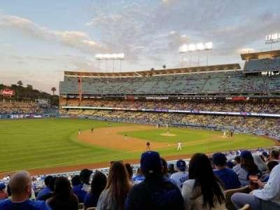 Dodger Stadium, vak: 149LG, rij: J, stoel: 4