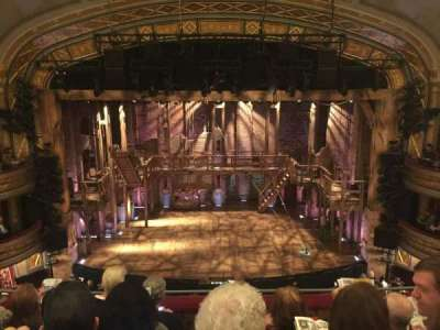 Richard Rodgers Theatre, vak: Front Mezzanine Center, rij: E, stoel: 108