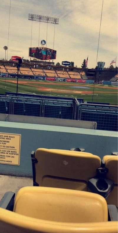 Dodger Stadium, vak: 4FD, rij: C, stoel: 1
