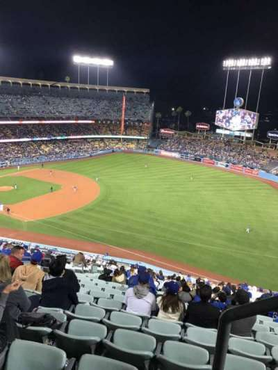 Dodger Stadium, vak: 34RS, rij: AA, stoel: 21