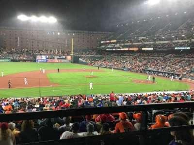 Oriole Park at Camden Yards, vak: 53, rij: 1, stoel: 14