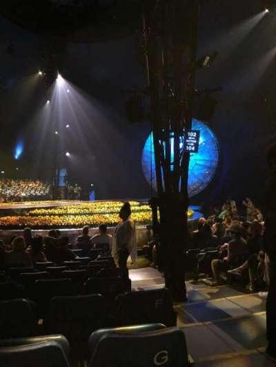 Cirque du Soleil - Luzia, vak: 202, rij: H, stoel: 13
