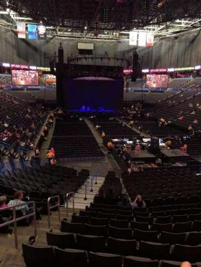 Chesapeake Energy Arena, vak: 101, rij: U, stoel: 19