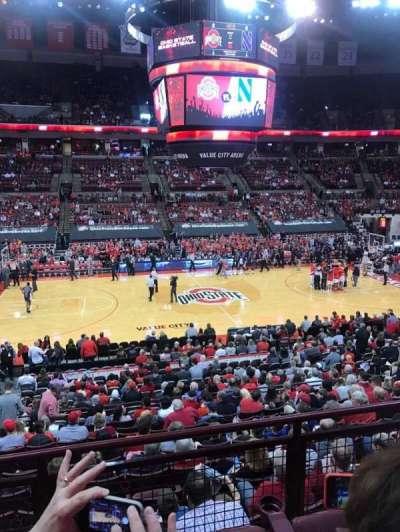 Value City Arena, vak: 223, rij: C, stoel: 12