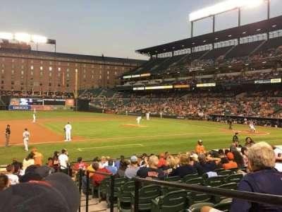 Oriole Park at Camden Yards, vak: 56, rij: 16, stoel: 1