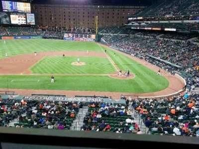 Oriole Park at Camden Yards, vak: 246, rij: 1, stoel: 7
