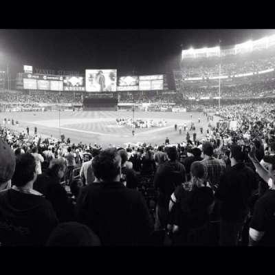 Yankee Stadium, vak: 120b, rij: 28, stoel: 1