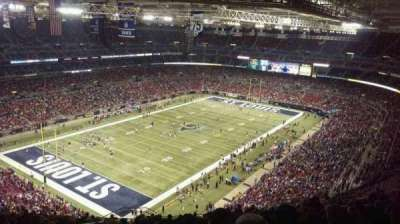 The Dome at America's Center, vak: 421, rij: TT, stoel: 19