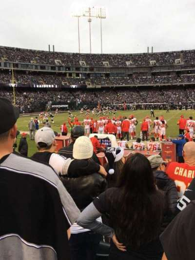 Oakland Alameda Coliseum, vak: 143, rij: 4, stoel: 8