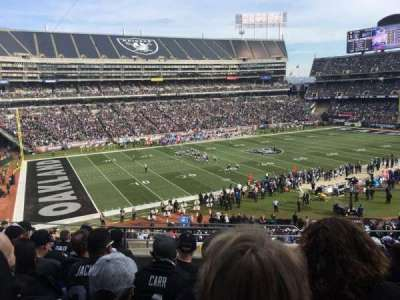 Oakland Alameda Coliseum, vak: 222, rij: 10, stoel: 4