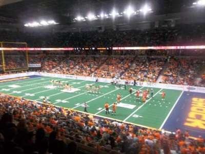Spokane Arena, vak: 106, rij: K, stoel: 14