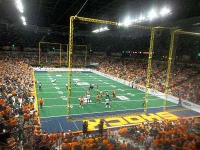 Spokane Arena, vak: 108, rij: T, stoel: 7