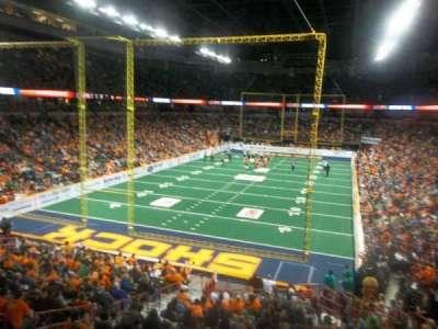 Spokane Arena, vak: 112, rij: S, stoel: 7
