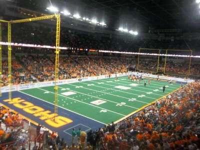 Spokane Arena, vak: 113, rij: P, stoel: 6