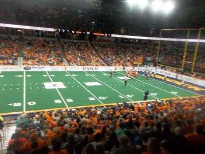 Spokane Arena, vak: 116, rij: P, stoel: 19