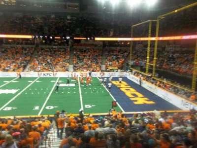 Spokane Arena, vak: 118, rij: S, stoel: 16