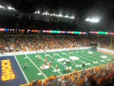 Spokane Arena, vak: 201, rij: M, stoel: 17